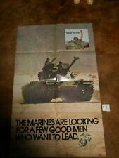 #1 Original Marine Recruiting Poster 1973 By Gov. Printing Office
