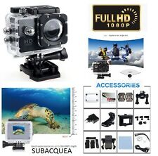 PRO ACTION CAM VIDEOCAMERA FULL HD 1080P SPORT CAMERA GO SUBACQUEA VIDEO FOTO SD