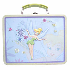 Tin Metal Lunch Snack Toy Box Embossed Disney Tinkerbell Fairy NEW FY