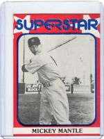 1982 SUPERSTAR BASEBALL CARD # 56   - HOF MICKEY MANTLE-  NEW YORK YANKEES