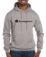 Champion Hoodie Mens Classic Script Logo Pullover Hoodie Sweatshirt Authentic