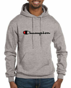 Champion Hoodie Mens Classic Script Logo Pullover Hoodie Sweatshirt Authentic