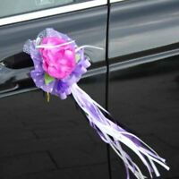 Wedding Car Flower Door Handles Rearview Mirror Decorations Festival Supplies.~