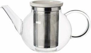 TEAPOT GLASS HEAT RESISTANT TEA COFFEE POT INFUSER - ARTESANO VILLEROY & BOCH
