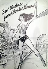 Rare 1976 WONDER WOMAN POSTCARD Mint Condition / DC Comics / Lynda Carter