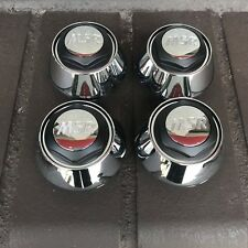 (4) MSR WHEEL RIM CENTER CAPS CHROME BLACK NEW