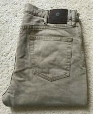Mens Wrangler regular fit straight beige denim jeans W 36 L 33