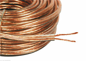 20m Meter 2 X 3mm Thick Loud Oxygen Free Speaker Wire Cable Super High Quality
