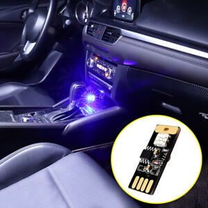 USB Colorful LED Car Interior Light Voice Control Atmosphere Ambient Accesories