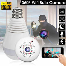 WIFI Panoramic Bulb Wireless 360° 1080P Hidden HD Spy Camera Light Security Lamp