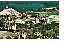 Aerial View-Castle-Space Mountain-Disney World-Florida-Amusement Park Postcard