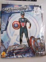 Rubies Boy M/8-10 Avengers CAPTAIN AMERICA Winter Soldier Halloween Costume