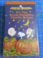 It's the Great Pumpkin, Charlie Brown VHS Halloween Holliday classic clamshell