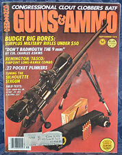 Vintage Magazine GUNS & AMMO September 1978 !!! COLT .22 ACE PISTOL !!!