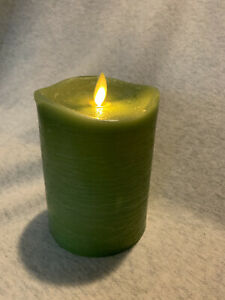 "Luminara Rustic Sage Flameless Candle 3.5x5"". Brand New in Box"