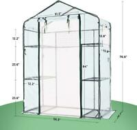 "Quictent 6 Shelves 3 Tiers 56""x29""x77"" Mini Greenhouse Walk In Gardening Planter"
