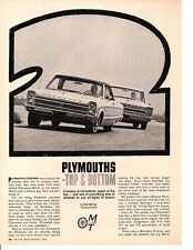 1965 PLYMOUTH BELVEDERE I 225 & SPORT FURY 426 ~ ORIGINAL ROAD TEST ARTICLE / AD