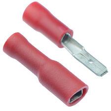 50 X Paia rosso 2.8 mm Maschio + Femmina completamente isolati crimpare Spade Connector