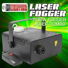 Fog Machine Laser Combo - Red - Green Laser and 500 Watt Fog Machine in one unit