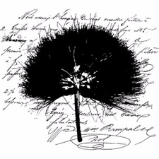 Dandelion Silhouette Romantic Script Stampington And Co Wood Mount Rubber Stamp