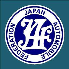JAPAN AUTOMOBILE FEDERATION DECAL STICKER JAF JDM RALLY DRIFT JAPANESE STICKERS