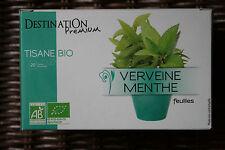 Tisane Bio Verveine/Menthe 20 sachets / Organic Infusion 20 bags - DESTINATION