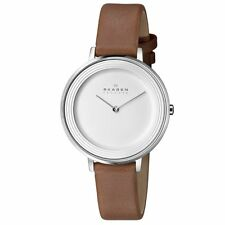 Skagen SKW2214 Ditte Brown Calfskin Leather Quartz Womens Watch