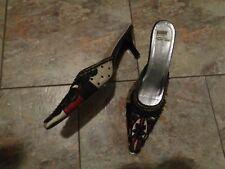 varsavia viamara beaded heels shoes size 8 1/2