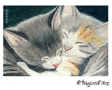 "Kitten, Cat ACEO Print ""Baby love"" By V Kenworthy"