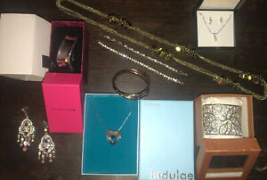 Job Lot 10 Items Of Costume Jewellery New In Box Great Quality Bangle Necklace