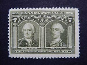 #100 MOGH  Quebec Tercentenary:  General Montcalm and General Wolfe  CV=$200.
