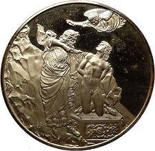 1976 GILT Silver Christian Medal Florence Baptistery SACRIFICE of ISAAC i60774