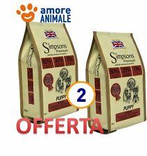 2 SACCHI Simpsons Premium 80/20 Puppy Mixed Pesce e Pollo 12 Kg  Crocchette cane