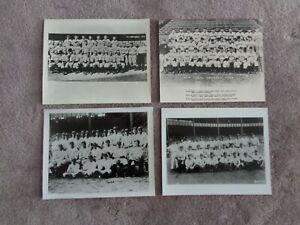 1920 - 1940 s Yankees Team Photo Lot of 4 Babe Ruth Lou Gehrig Joe DiMaggio