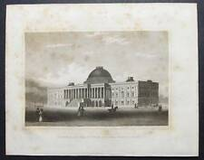 Original 1834 Engraving THE CAPITOL OF THE U.S., WASHINGTON by Brown & Andrews