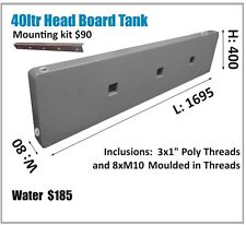 40LT TOYOTA NISSAN ETC SLIM HEADBOARD WATER TANK 4WD UTE TRAY 4X4 ASK FREIGHT..
