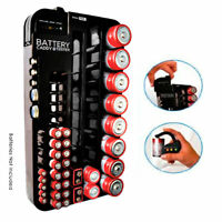 72 Battery Caddy Storage Plastic Holder Rack Organizer Removable Tester AAA D C