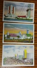 Lot of 3 1934 Postcard Chicago Illinois IL International Exposition 155 158 169