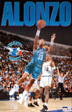 ALONZO MOURNING Charlotte Hornets Vintage 1993 Starline NBA Action POSTER