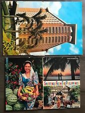 Philippines Stamps surcharge on 2 postcards 1970s