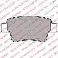 Delphi Rear Brake Pad Set + Bolts LP2055 - BRAND NEW - GENUINE - 5 YEAR WARRANTY