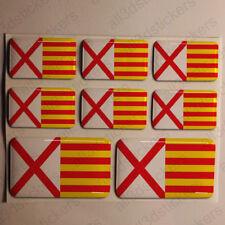 Pegatinas l'Hospitalet de Llobregat España Pegatina Bandera Adhesivo 3D Relieve