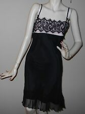 New Black/Pink Sheer Party Dress by A.B.S. by ALLEN SCHWARTZ, size 4
