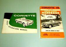 2 Books 1960 CORVETTE V8 OPERATIONS MANUAL 1955-1962 GM Chevrolet Sports Car