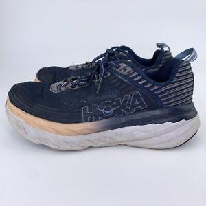 Hoka One One Bondi 6 Indigo Blue Athletic Running Shoes Women Sz 9 Wide