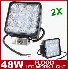 2X 48W LED Work Light Flood Driving Lamp 12V 24V Off road car boat Truck 4WD 4X4