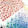 MIXED Size 1 2 3 4mm Rhinestone Stickers Diamante Gem Stick On Adhesive Sparkle