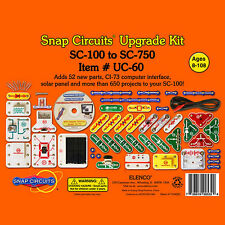 Elenco Snap Circuits UC-60 Upgrade Kit Convert SC-100 to SC-750 Ages 8+