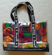 Betsey Johnson Betseyville Clear Cover Floral Design Shoulder Bag Handbag Purse
