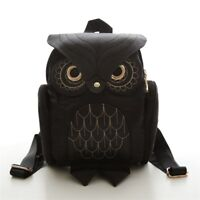Women Backpack Stylish Cool Black Leather School Herald Fashion Shoulder Bags